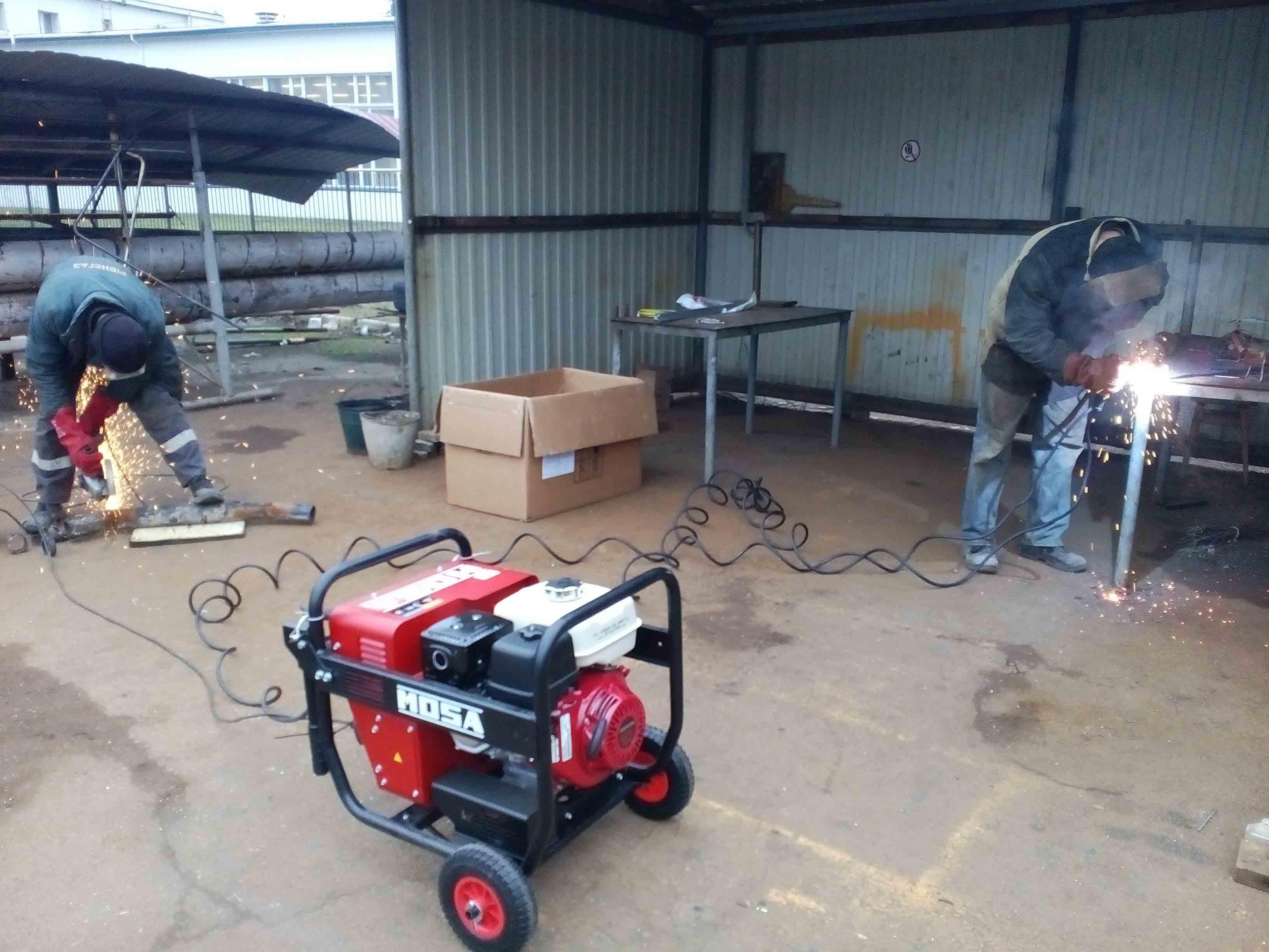Одновременная работа сварочный генератор 200А MOSA MEGIC WELD 200