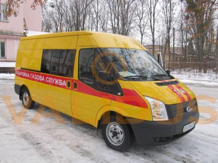 Аварийно – восстановительная машина для газовой службы (Ford Transit)